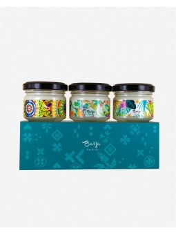 Coffret Trio bougies Blue-mood